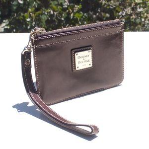 Looney & Bourke Dark Brown Leather Wristlet